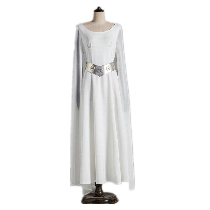 Movie Princess Leia Dress Costume Adult Star Wars Halloween Fancy Dress Cosplay Costume