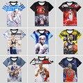 Paul George camisa LeBron James Stephen Curry História 3D T-shirt Impressão Camisas de algodão T Unisex Menino Adolescente Verão Solto Homme Fãs topos