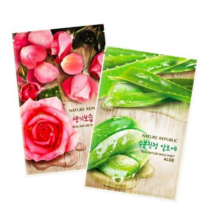 Korean Cosmetics NATURE REPUBLIC Real Nature Mask