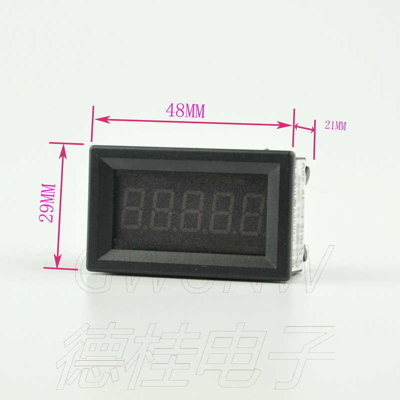 Electrical Instruments Gwunw By436bj Dc0-50a Digit Ammeter Current Panel Meter Upper Limit Lower Limit Alarm Function Buzzer Output Control Voltage