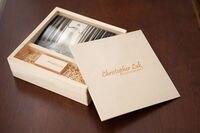 الإبداعية زفاف ألبوم ذكريات الصور خشبية مربع محرك usb عصا 3.0 فلاش القلم للزواج (رسوم الشحن logo)