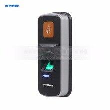 DIYSECUR 1000 Usuários Fingerprint 125 KHz RFID Leitor de Cartão 2 Em 1 Kit Controlador de Acesso Fechadura Da Porta de Plástico Shell