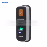 DIYSECUR 1000 Users Fingerprint 125KHz RFID Card Reader 2 In 1 Door Lock Access Controller Kit Plastic Shell