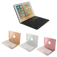 VKTECH Mini Multifuction Keyboard 7 Colors Backlit Light Wireless Bluetooth Keyboard Case Cover For IPad Pro