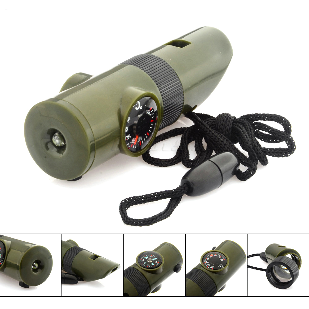Arts,crafts & Sewing Apparel Sewing & Fabric Purposeful 1pcs 7 In 1 Multifunctional Military Survival Kit Magnifying Glass Whistle Compass Thermometer Led Light