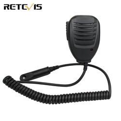 LED Динамик микрофон с 3,5 мм моно Джек для Retevis RT6 Водонепроницаемый рация Любительское радио J9114M
