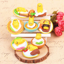 High quality 8pcs set Japan Sanrio Gudetama Lazy Egg Mini Plastic Ornaments PVC Cute Action Figure