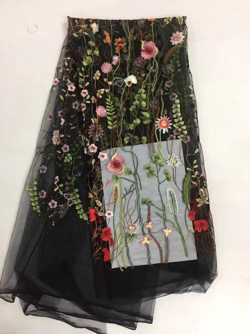 새로운 프랑스어 그물 레이스, 고품질 나이지리아 아프리카 명주 메쉬 레이스 직물 파티 웨딩 드레스 5 야드 / 많은 RLW02
