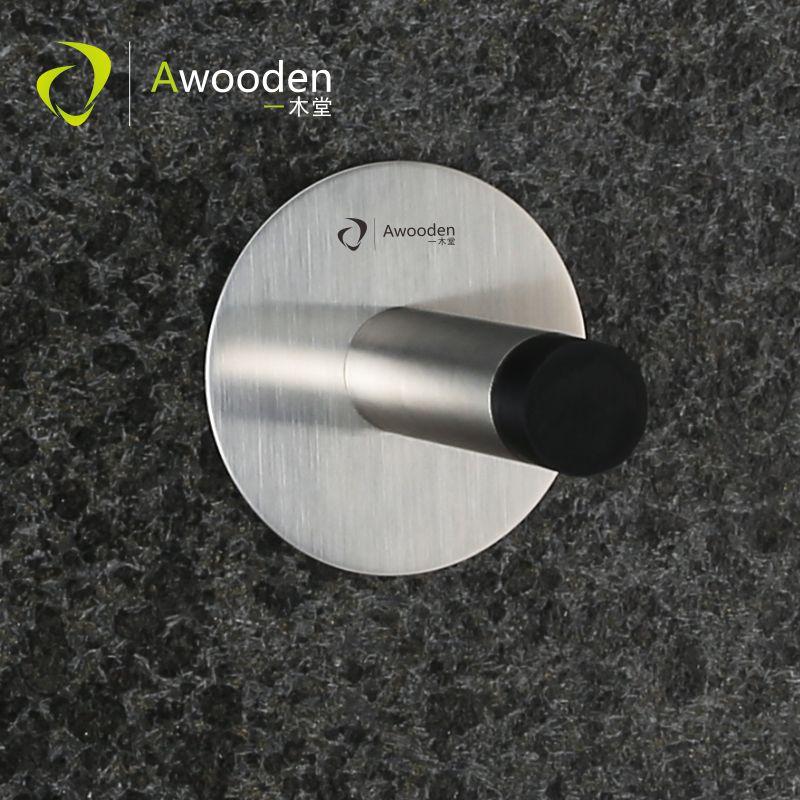Awooden Door Stopper with Door Hook Heavy Duty Superior Quality Prevent Door Collision Free Nail Free