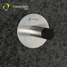 Awooden дверная пробка с дверным крюком сверхмощный Превосходное качество предотвращает столкновения двери бесплатно ногтей винты установка