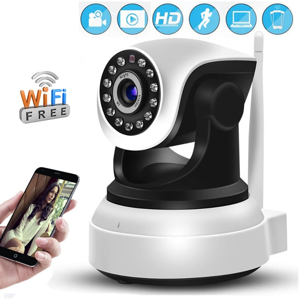 HD 1080P IP Camera Wifi Indoor CCTV Surveillance Camera Two Way Audio P2P Night Vision Baby Monitor Camhi APP Including a GiftHD 1080P IP Camera Wifi Indoor CCTV Surveillance Camera Two Way Audio P2P Night Vision Baby Monitor Camhi APP Including a Gift