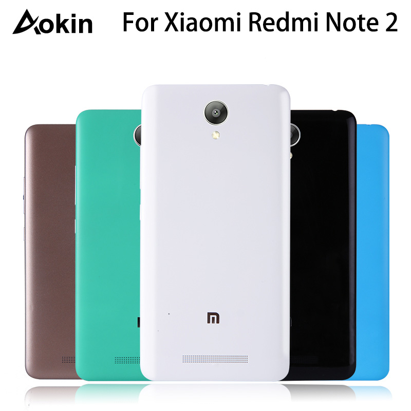 Aokin Hard PC Battery Back Housing Cover For Xiaomi Redmi Note 2 Mobile Phone Case Replacement For Redmi Note2 Protective Shell(China)