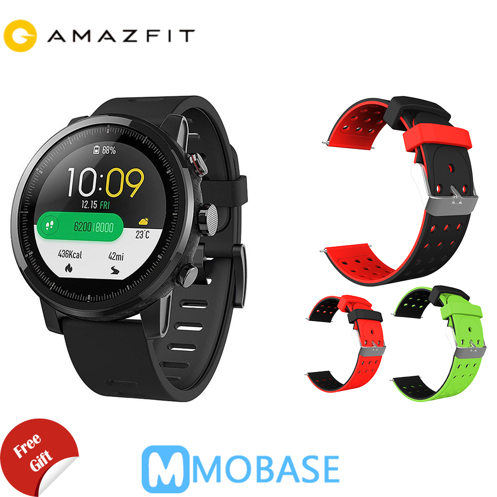 Amazfit Stratos Montre Smart Watch 2 GPS 5ATM D'eau 1.34 ''2.5D Écran GPS Sport montre Firstbeat De Natation Smartwatch Anglais Version