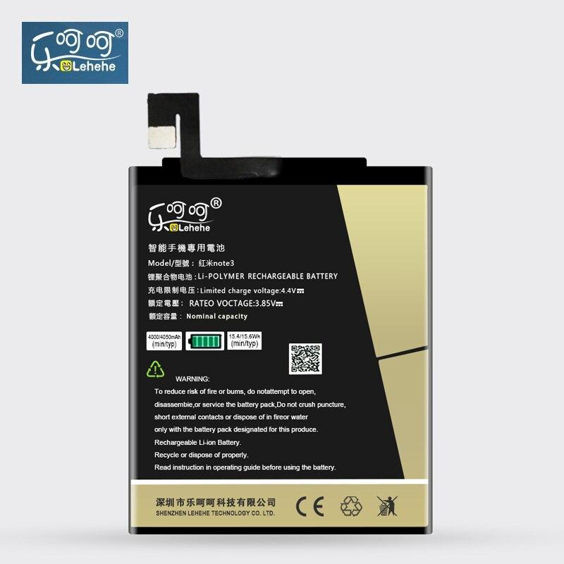 Original LEHEHE Battery BM46 For Xiaomi Redmi Note 3 Mi Note3 Pro BM46 4000mAh High Capacity Replacement Bateria Free Tool Gifts