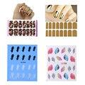 4 Folha/set Nail Art Decorações DIY Da Arte Do Prego Adesivo Mix Estilos Manicure Beleza Decoração de Unhas Ferramentas Unhas Cobertura Wraps