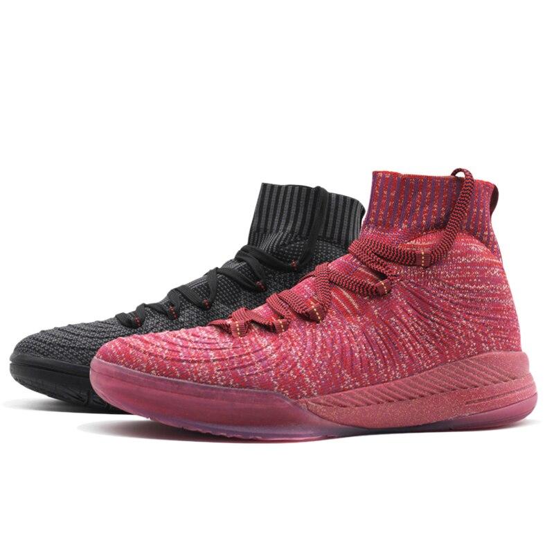 Chaussures de Basket-ball Sport hommes respirant Basket-ball bottes Basket-ball femme de marque hommes Basket-ball baskets 74101130 noir