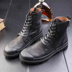 Новые ботинки martin, кожаные ботинки в английском стиле, Мужские ботинки в армейском стиле