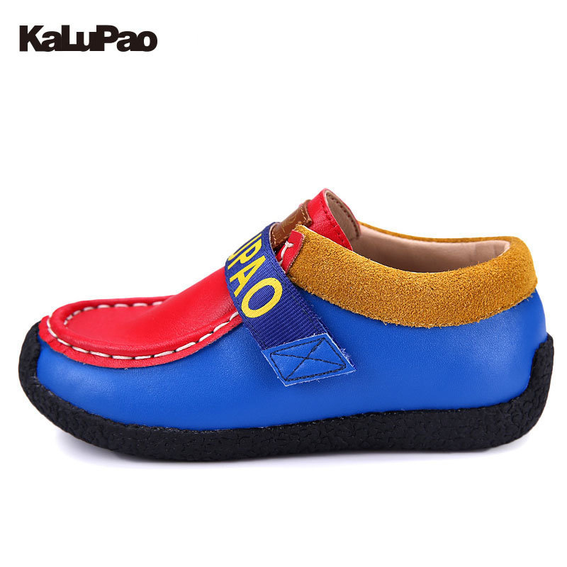 Kids Shoes For Boys Classic Style Casual Shoes Boat 100% Leather Shoes