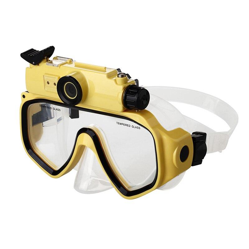 Adultes étanche HD 720p numérique grand Angle caméra vidéo caméscopes masque de plongée avec ceinture réglable lumière LED utilisation de natation - 3
