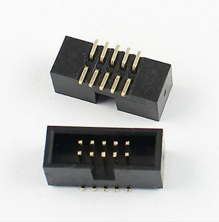 10 Pcs SMT Box Header 1.27mm 2x5 P 10 Pin dual row Straight Male surface mount SMD PCB IDC Socket Male