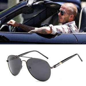 Men Sunglasses Polarized Driving Metail-Frame Aviation Pilot Male Fashion Brand Design