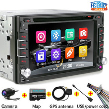 NEW CAR GPS DVD Navigator Bluetooth music Hands-free The car Support the rearview camera function Selling Free shipping 6215