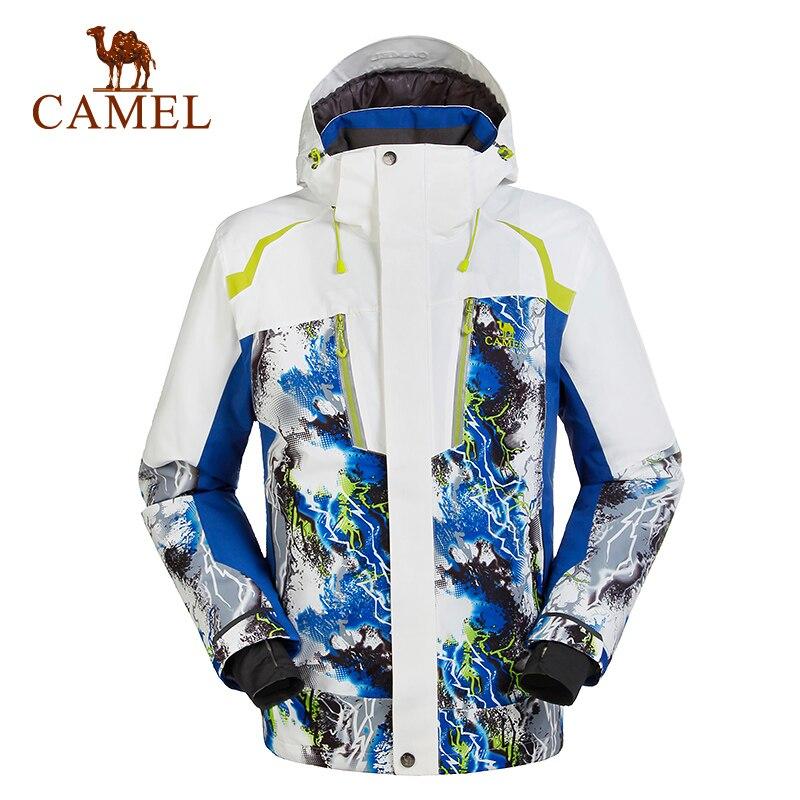 Camel наружный мужская лыжный костюм Лыжная Куртки мужская одежда зимние теплые ветрозащитный сноуборд Куртки мужчин A5W249129 ...