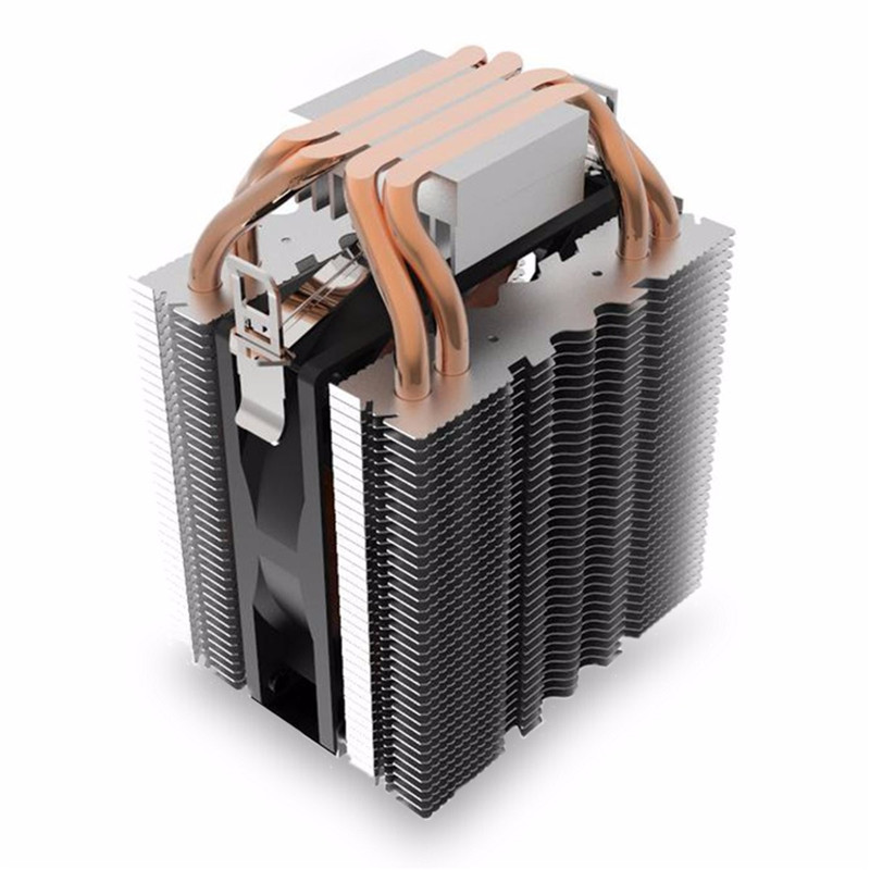 For Intel for LGA1150 1151 1155 775 1156 4 Heatpipe Radiator Quiet 3pin CPU Cooler Heatsink Fan Cooling for Desktops Computer 3pin 12v cpu cooling cooler copper and aluminum 110w heat pipe heatsink fan for intel lga1150 amd computer cooler cooling fan