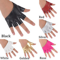 Fashion Half Finger Fingerless PU Leather Gloves Ladys Driving Show Pole Dance  Mittens for Women Men Free Shipping 1
