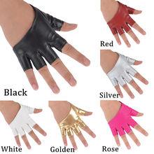 Мода половина Finger перчатки без пальцев PU кожаные перчатки Леди вождения показать танца на пилоне варежки для женщин мужчин Бесплатная доставка