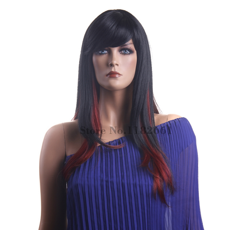 New coming japanese fiber black red best hair highlights long new coming japanese fiber black red best hair highlights long straight wig for white women with bangs perucas free shipping on aliexpress alibaba pmusecretfo Image collections