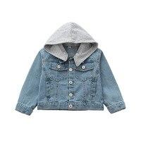 Boys Girls Denim Jackets Coats New 2017 Fashion Korean Style Spring Autumn Children Unisex Outwear Coat