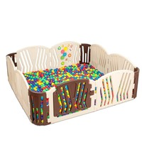Coffee Baby Playpens Indoor Baby Kids Activity Gear Fence Environmental Protection Safe Baby Learn Walking Play Fence For Boy