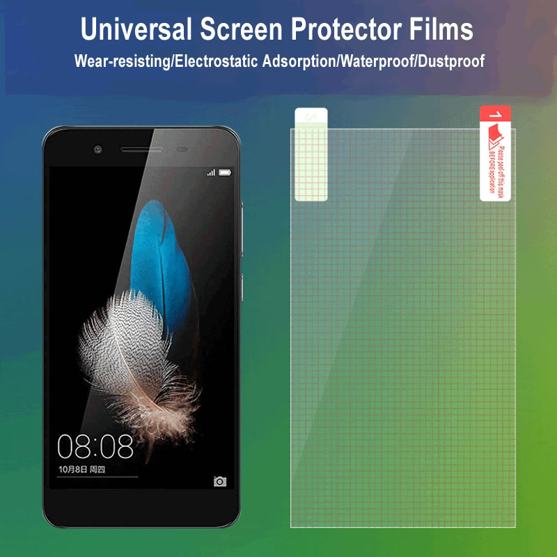 10pcs 4/5/6/7/8/9 inch Universal lattice Matte Clear Screen Protector Guard Screen Protective Film for Iphone Huawei oppo phone