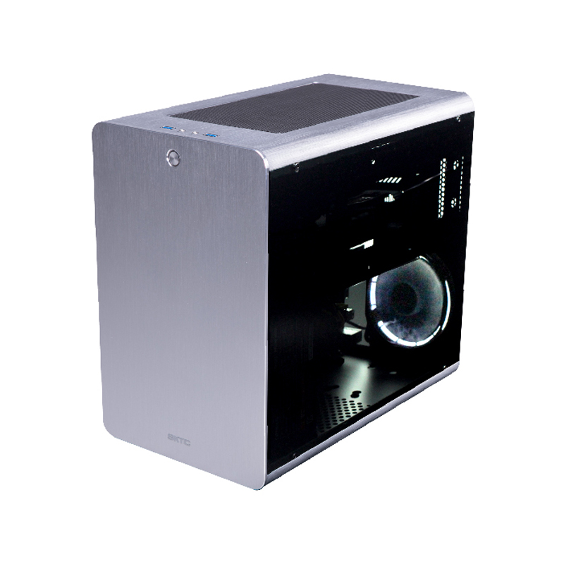 Q3 aluminum chassis Small Mini ITX MicroATX Computer Case Glass side through HTPC top line game small chassis new small aluminum chassis mini pc lbox 2840