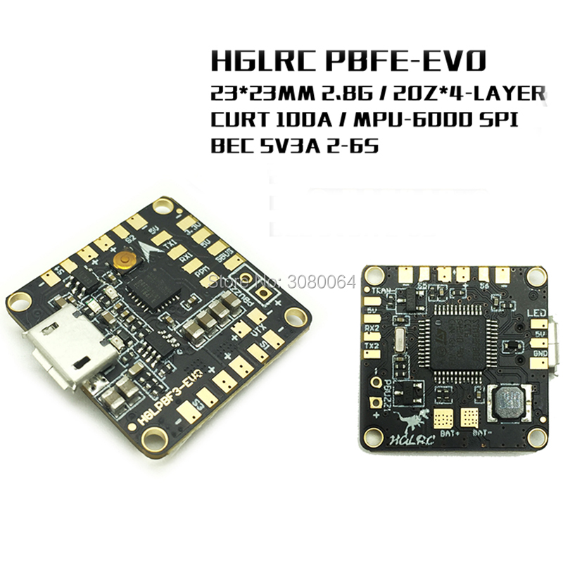 HGLRC PBF3 EVO equipped with MPU6000 SPI PDB+BEC Mini F3 Brushless Flight Controller for Mini 130mm FPV RC Quad Multirotor Drone emax stm32f303 f3 femto flight controller with integrated bec buzzer pads vbat pdb