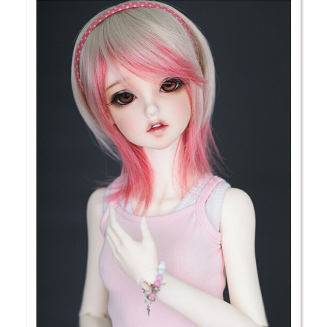 1/3 1/4 1/6  BJD Doll Wig Short Hair Accessories for Dolls,High-temperature Wire Fashion Doll Hair for Dolls