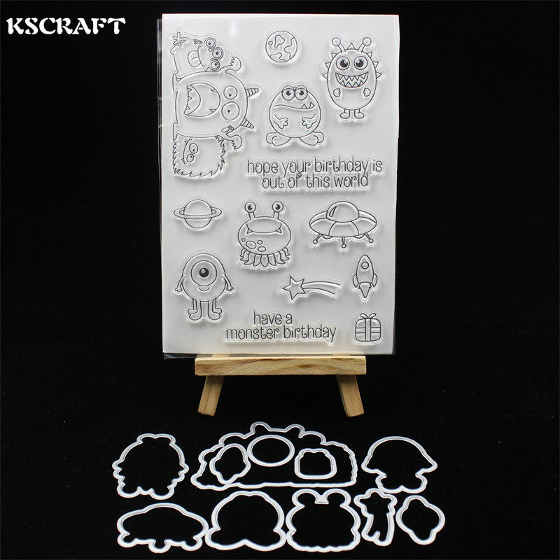 ZUI-R Decorative Stamps Clear,PVC Transparent Stamp Seal Cartoon Little Mermaids Patterns DIY Scrapbook Photo Album Card Diary Decor English Letters,