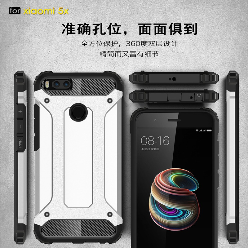MUXMA For Xiaomi mi A1 Case Shockproof Hard Rugged Cover For Xiaomi mi 5X PC TPU 2 in 1 Hybrid Armor Phone Cases For Xiaomi A1