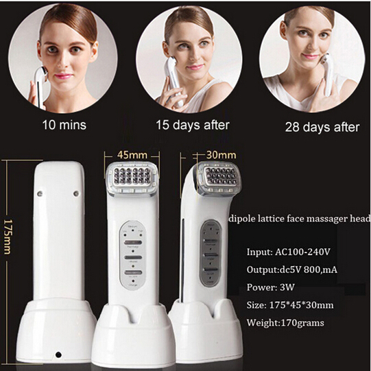 Portable Rechargeable Biopolar High Frequency Radio Wave Microcurrent Skin Rejuvenation Facial Skin Treatment Machine zvs high frequency induction heating 1800w high frequency machine without tap zvs