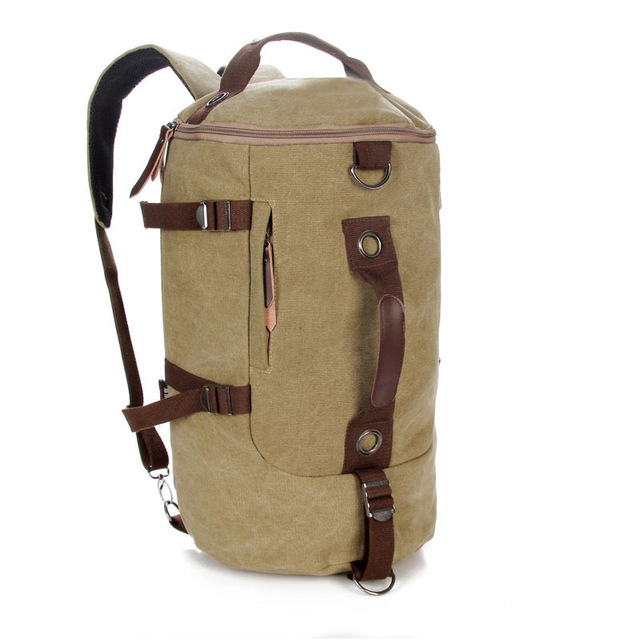 Large Capacity Men Travel Shoulder Bag Mountaineering Canvas Backpack