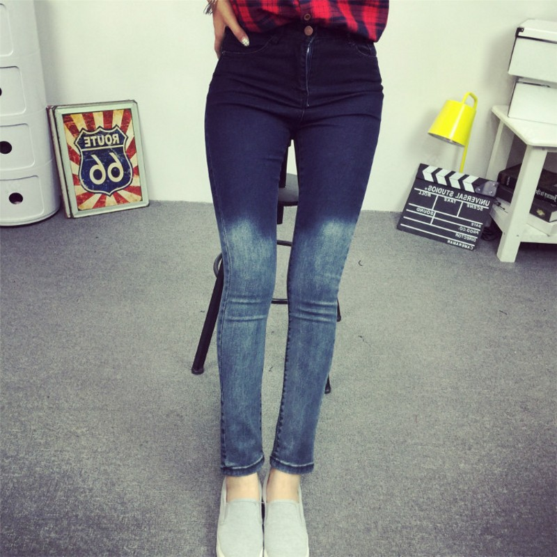 Plus XL 2017 Femme Jegging American Women Skinny Leggings High Waist Slim Jeans Stretch Black Denim Cotton Washed Pencil Pants