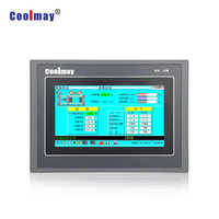 7 inch hmi plc integrated 12 relay digital outputs pt100 temperature analog controller