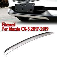Front Lip Bumper Grilles Strips Cover Sequin Frame Trim Stainless Steel Decoration Car Accessories For MAZDA CX 5 CX5 2017 2019