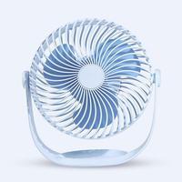 Creative USB Rechargeable Fan 360 Degree Rotation DC 5V Mute Fan 2000mAh Large Wind Striped Fan