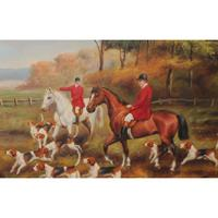 Heywood Hardy Reprodudction artwork oil painting on canvas riding horses dogs Hunting Handmade High quality