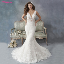 Robe de mariee Mermaid Wedding Dresses V-neck backless