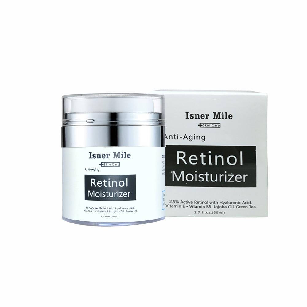 ISNER MILE Retinol Moisturizing Cream Vitamin C Whitening Anti-Aging Anti-Wrinkle Hyaluronic Acid 2.5% Moisturizer 50ml