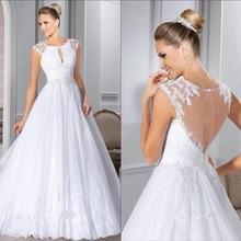 Sexy White Ball Gown Wedding Dress Sleeveless Dress 2019