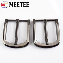 MEETEE 5pcs DIY Leather Craft Hardware 40mm Pin Buckle Belt Brushed Metal Fashion Mens Womens Jeans Accessories ZK895